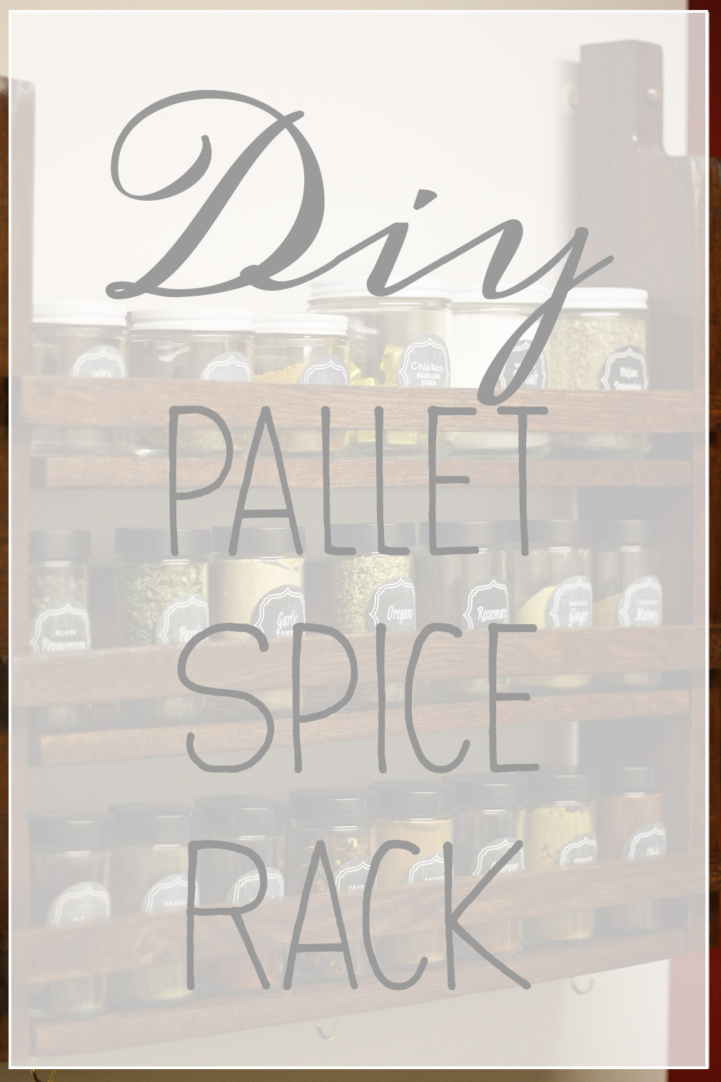 DIY Pallet Spice Rack How To 1