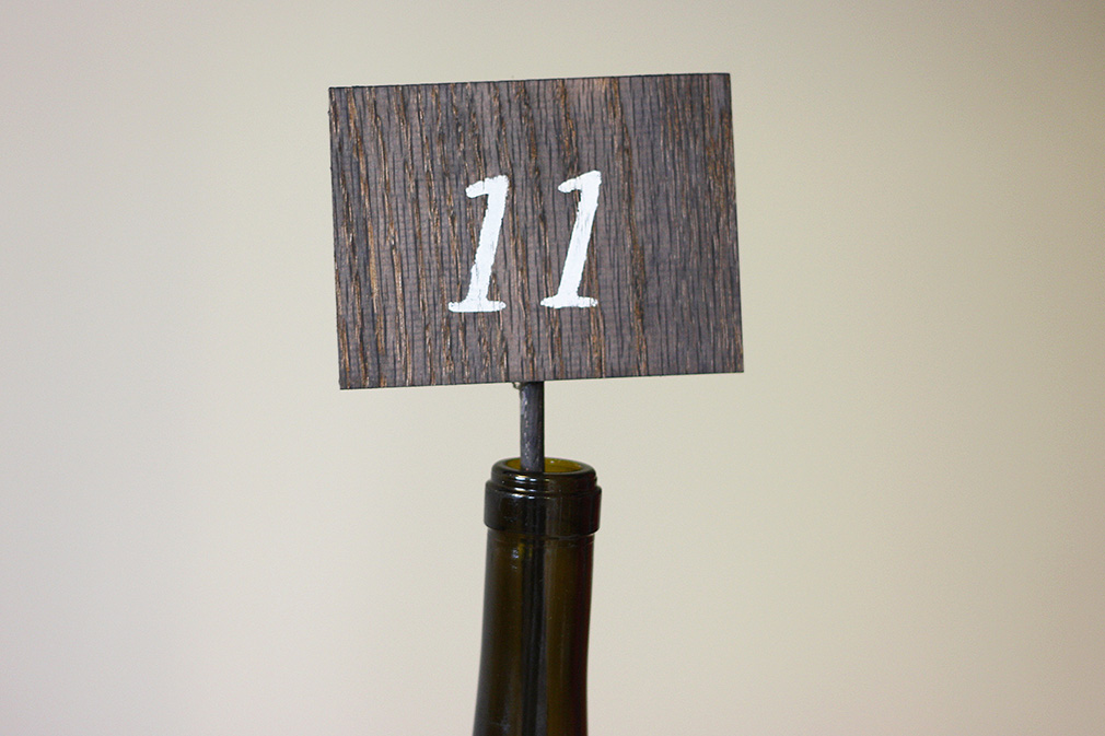 DIY Wooden Table Numbers Finished 2