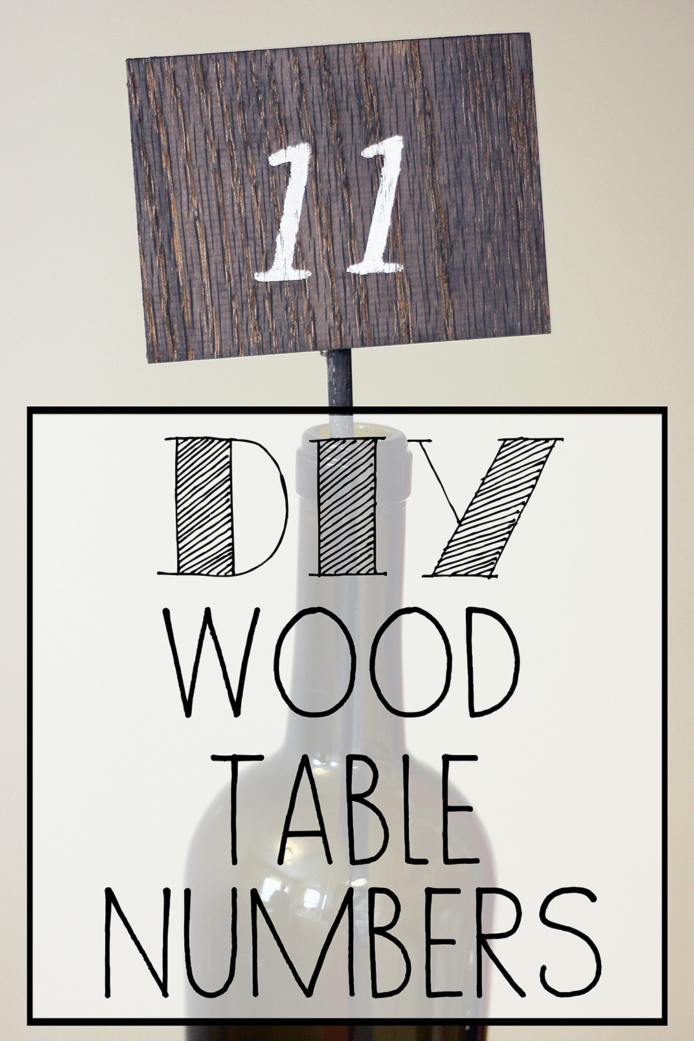 DIY Wooden Table Numbers Finished 3