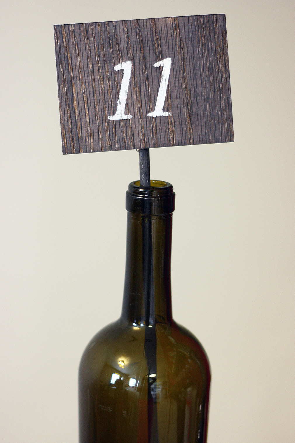 DIY Wooden Table Numbers Finished