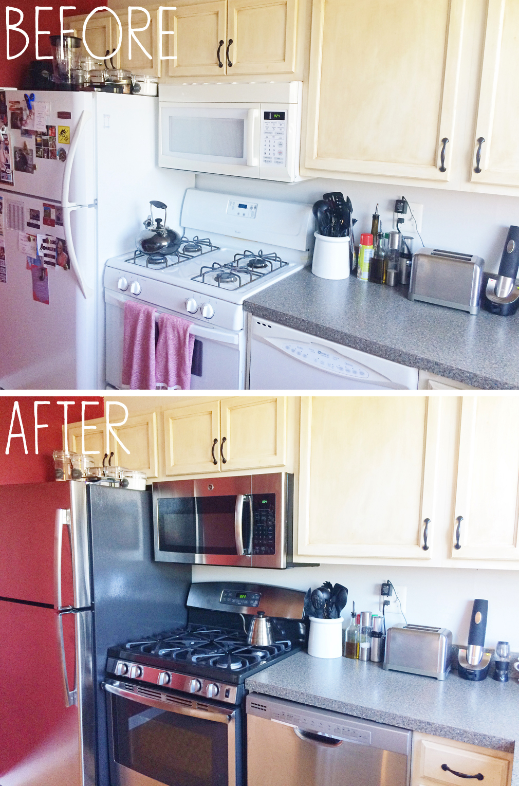 Before and After Kitchen Appliances 2