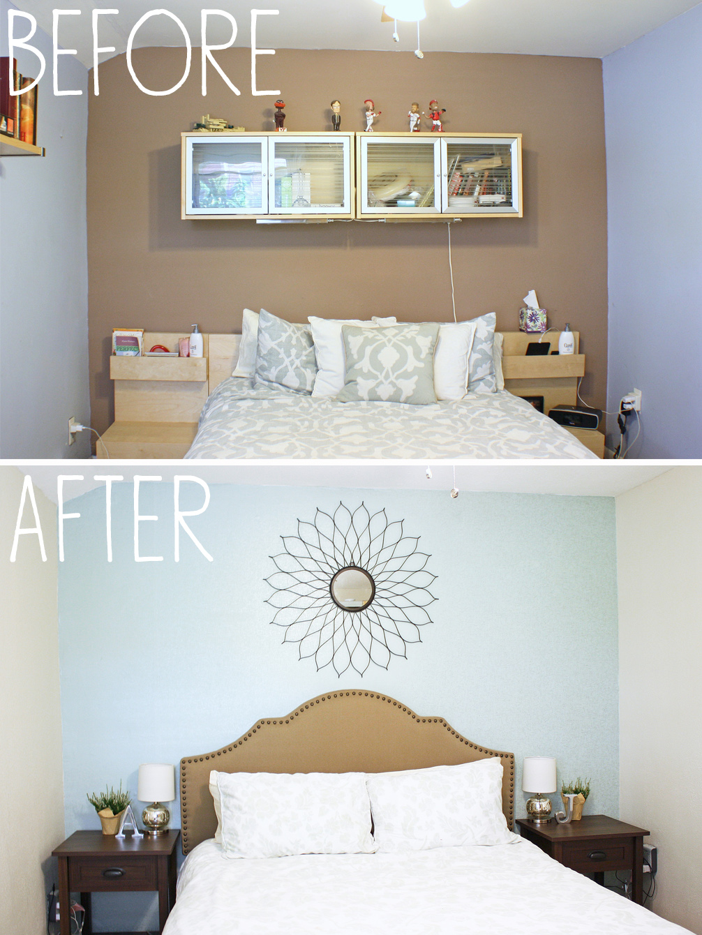 Hanging Wallpaper Before and After