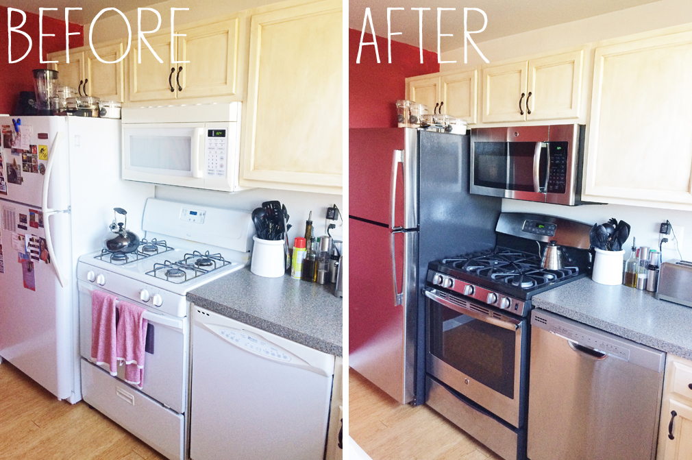 Kitchen Appliances Before and After 1