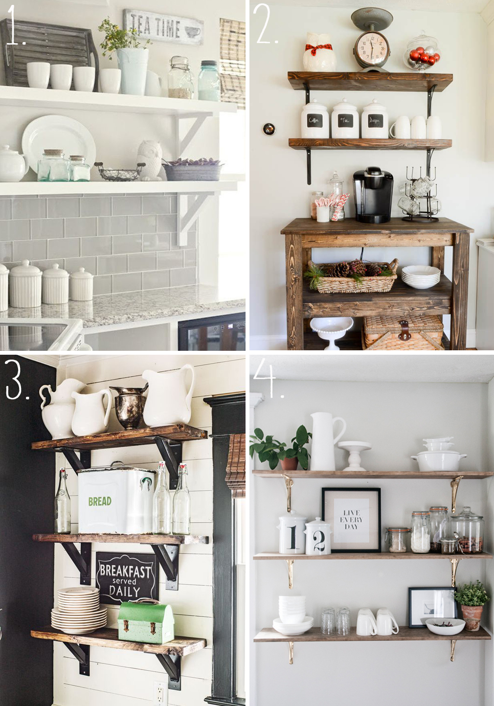 Kitchen Shelves Inspiration